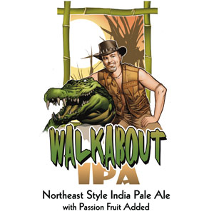 Walk About Northeast-style India pale ale brewed with Australian hops & passionfruit