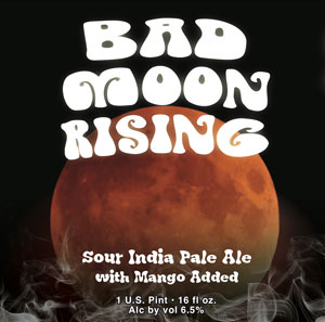 Bad Moon Rising Sour, northeast-style India pale ale brewed with mangos